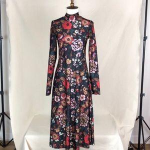 ASOS Floral Mockneck Midi Dress